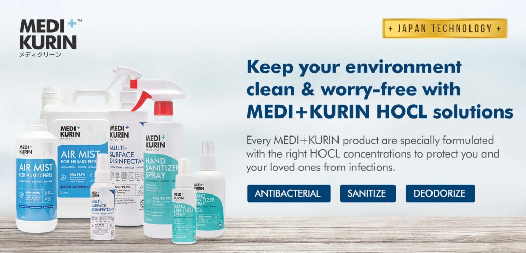 MEDI+KURIN HOCl Solution Protects you and your loved ones from infections